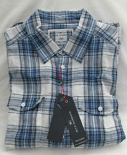 Linen Check Collared Regular Casual Shirts & Tops for Men