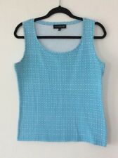 Ladies Blue And White Vest Top Size Large By Jones New York