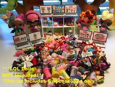 LOL SURPRISE Dolls CUSTOM 6 PC STARBUCKS FOOD ACCESSORIES Laptop Glasses Phone