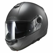 LS2 CASCO plegable para motocicleta con Parasol FF325 STROBE ANTRACITA talla XL