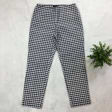 RALPH Ralph Lauren Silk Capri Pants Navy White Check Cropped Size 6