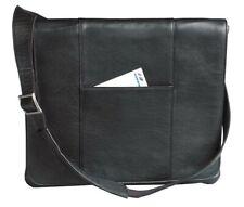 Harness Cowhide Leather Slim Messenger Bag/Shoulder Bag - Winn International