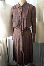 Vintage SAINT LAURENT Rive Gauche Paisley Silk Dress 40