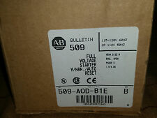 NEW Allen Bradley FULL VOLT MOTOR Starter 509-AOD BIE 120v AUTO+MANUAL 1.6-5A OL