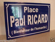 PLAQUE RICARD APEROS Paul RICARD objet collection cadeau pour fan déco originale
