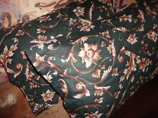 FRUIT OF THE LOOM GREEN SCROLL CINNAMON FLORAL (2) STANDARD PILLOWCASES 19 X 28