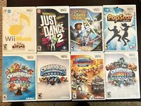 NINTENDO Wii 8x Misc Skylander & More Game Lot - See pics for titles - FREE S&H