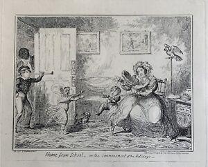 George Cruikshank etching Home from School McLean 1835