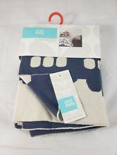 ORLA KIELY Baby Boy Reversible Train Cars Trolley Blue Knit Blanket Target NWT