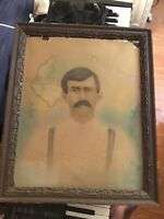 Rare  Hand Tinted Solar Enlarged Portrait of Old West Hero Sheriff Pat Garrett