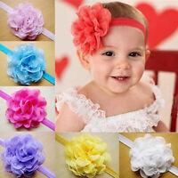 KQ_ KQ_ BH_ Wholesale Baby Girls Infant Toddler Flower Headband Cloth Hair Band