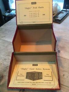 Vintage Digby Card Index System Box