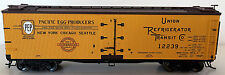 PACIFIC EGG PRODUCTS. HO-SCALE 40' WOOD REEFER  BY ATLAS  -FREE SHIPPING IN U.S.