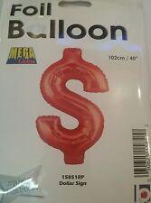 """Dollar Sign Balloon Red 40"""" $ - Jumbo"""