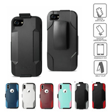 For iPhone 7 8 6s Plus Rugged Heavy Duty Shockproof Case with Holster Belt Clip