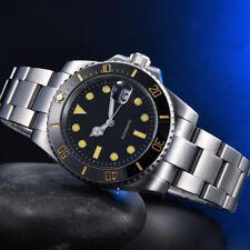 40mm black sterile dial ceramic bezel date automatic Movement men watch