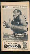 1968 VFL Football Record Fitzroy v Melbourne July 6 Lions Demons