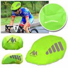 High Visibility Bike/ Bicycle Waterproof Helmet Rain Cover w/Reflective Stripes