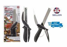 New & Improved Cleaver Cutter 2-in-1 Kitchen Knife & Cutting Board Scissors