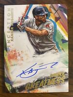 2020 TOPPS INCEPTION XANDER BOGAERTS Auto 12/20 On Card Boston Red Sox Autograph