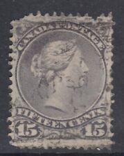 "Canada Scott #30b  15 cent blue grey ""Large Queen"""