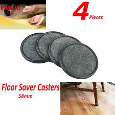 4pcs Furniture Floor Protector Castor Cups Chair Sofa Feet New Cap Caster Cups