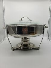 Pre-owned Round Chafing Dish Stainless Steel Full 00006000  Size Tray Buffet Catering
