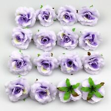 50X Artificial Fake Rose Silk Flower Head Wedding Home Garden Decor lavender