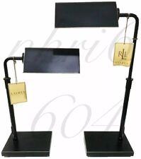 Ralph Lauren Lamp Modern Agatha O Banker Pharmacy Desk Table Black Rubbed Bronze