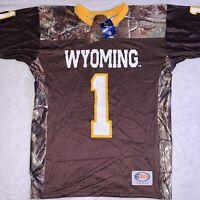 Wyoming Cowboys Football Jersey Realtree Camo Men's Size Small Made USA