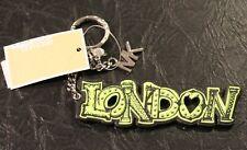 Michael Kors Graffiti Collection  London KeyFob Neon/Lime