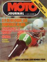 MOTO JOURNAL  275 HONDA CB 500 Four Montesa Cota 49 Charles Coutard Bultaco 1976