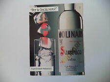 advertising Pubblicità 1989 SAMBUCA MOLINARI