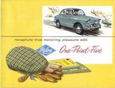 Riley One Point Five 1.5 Original UK colour Sales Brochure Pub. No. H&E  61103