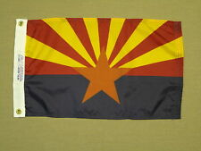 "Arizona State Indoor Outdoor Dyed Nylon Boat Flag Grommets 12"" X 18"""
