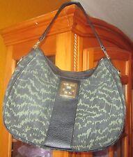 TRINA TURK NWT $250 black and khakhi green olive women's  purse