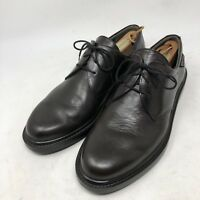 MEPHISTO Air Jet Plain Toe Brown Leather Lace Up Dress Shoes Mens Sz 9.5