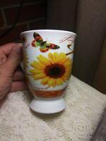 Jameson & Tailor Butterflys And SunFlowers 12oz. Coffee/Mug- Tea/Cup.