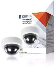 Konig Fake Dummy Dome CCTV Security Camera Flashing LED  Indoor & Outdoor