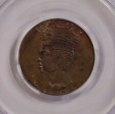 PCGS-MS62BN 1792 BARBADOS 1/2PENNY ORIGIN STRUCK UNC