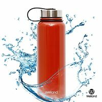 Thermo Water Bottle - 32oz Red Sports Vacuum Seal Insulated Stainless Steel Mug