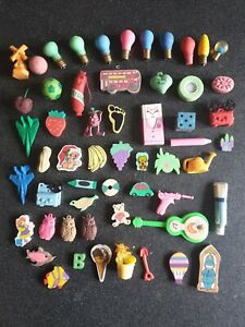 Lotto n.4 - gommine erasers gomme kawaii cute buone condizioni vintage