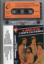 SANTO CALIFORNIA cassetta IL MEGLIO DE  MC MC7 ITALY musicassetta originale TAPE