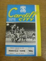 20/01/1976 Cardiff City v Mansfield Town  . Thanks for viewing this item offered