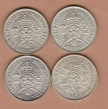More details for four 1942/1944/1945 & 1946 george vi 50% silver florins in near mint condition