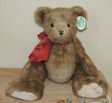"NWT BEARINGTON COLLECTION BEAR 18"" BIG HUGS JOINTED ARMS LEGS LIMITED LIL RASCAL"