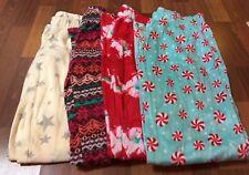 NWT -Lot Of 4- Flirtitude Fleece Pattern Pajama Pants - Juniors Size Small