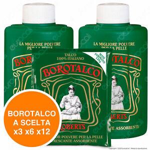 Borotalco Roberts Talco Polvere Assorbente Rinfrescante Barattolo x3 x6 x12