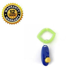 Blue New Big Button Training Obedience Click Clicker With Wrist Strap For Dog