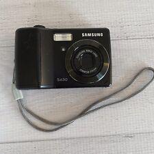 Samsung Digimax S630 6.0MP Digital Camera - Black Tested Works